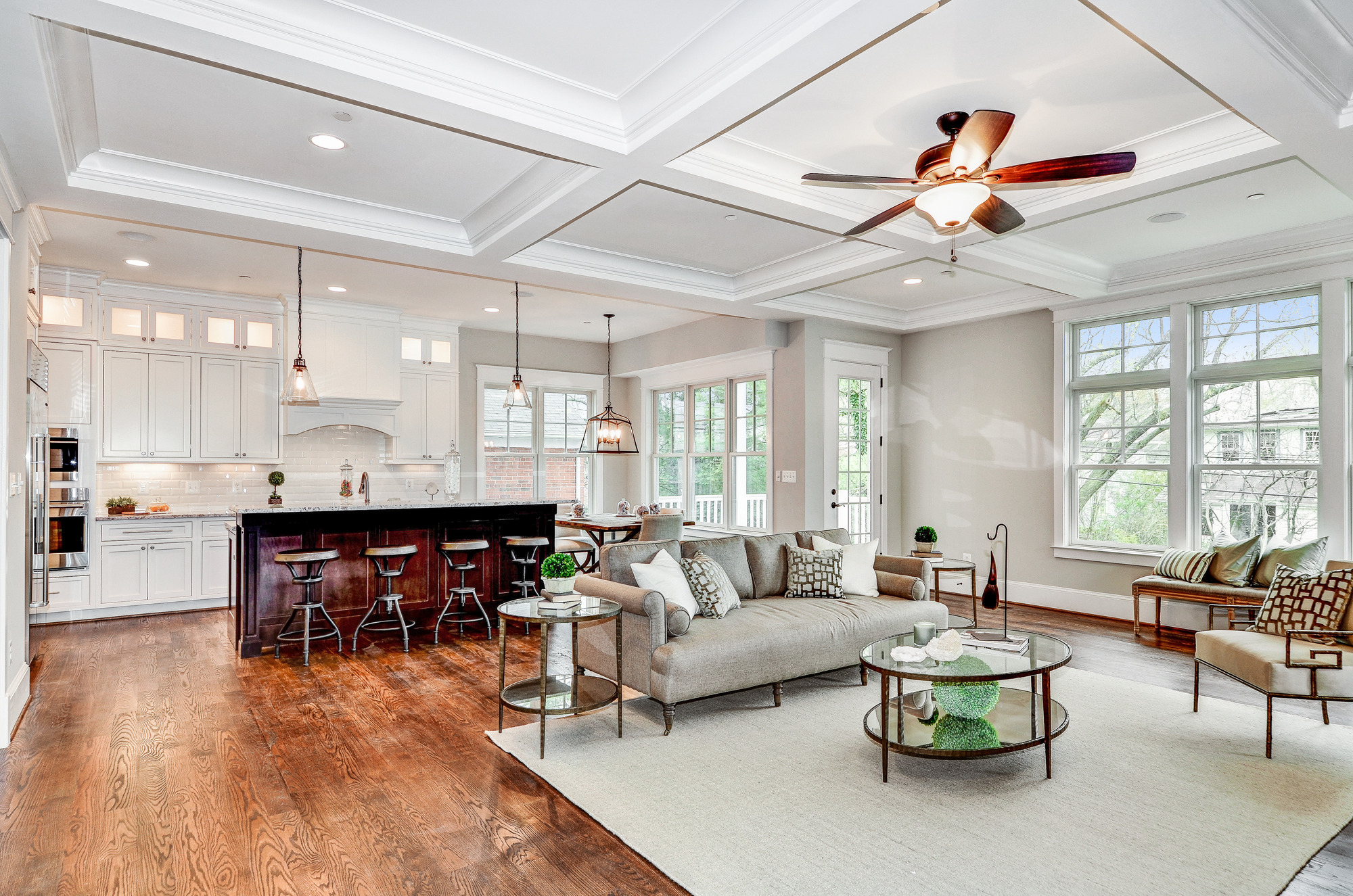 Grand Family Room And Kitchen