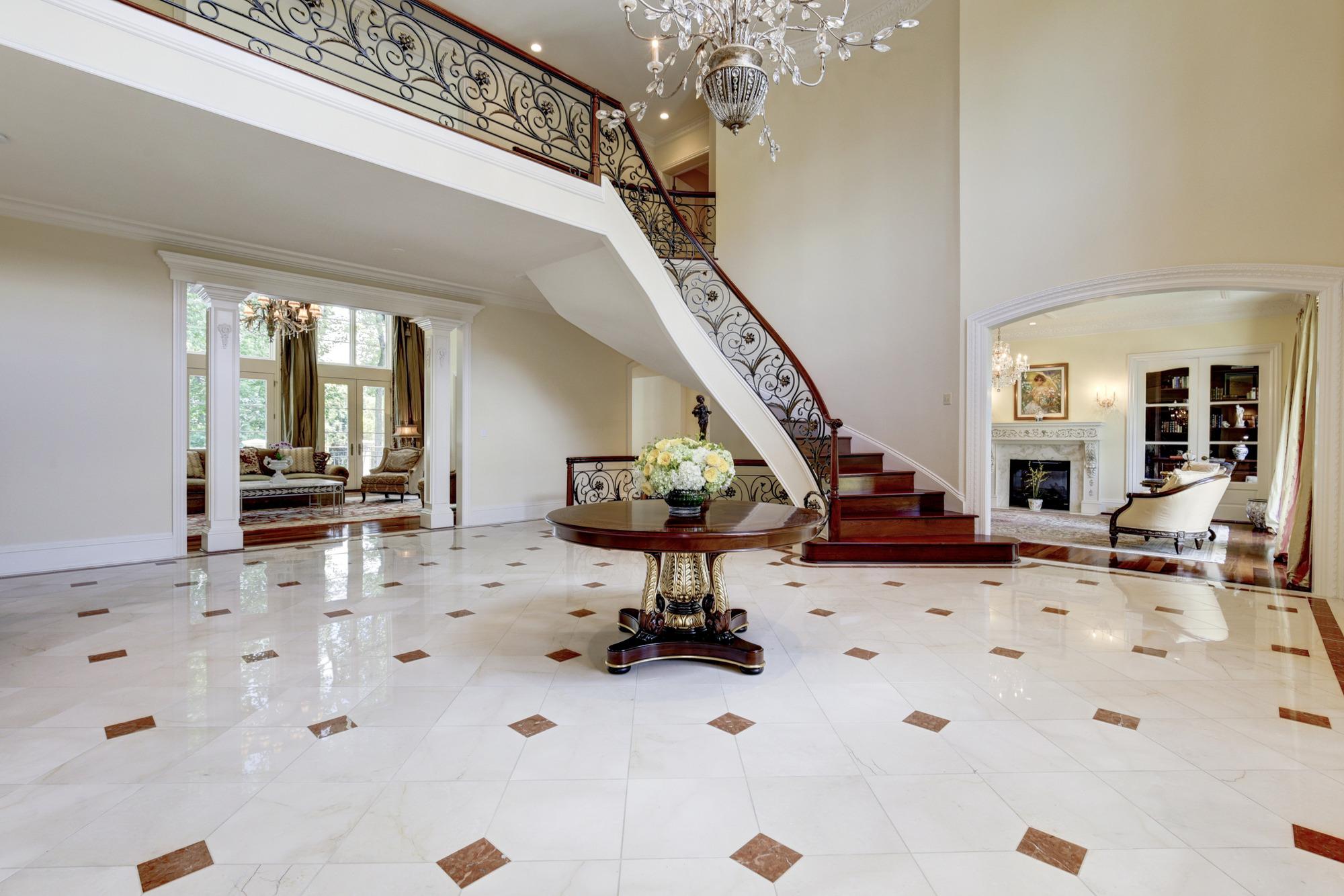 7805 meritage ln mclean va 22102 two story foyer grand floating steps fine arts chandelier arubaitofo Images