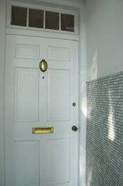 Front Door with Tiled Entryway